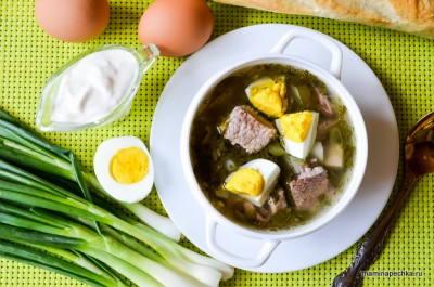 Зеленый борщ рецепт классический с фото