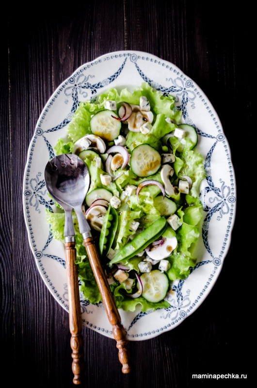 Салат с шампиньонами
