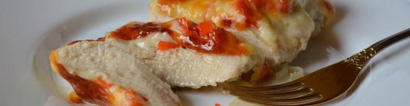 Куриные грудки под сыром