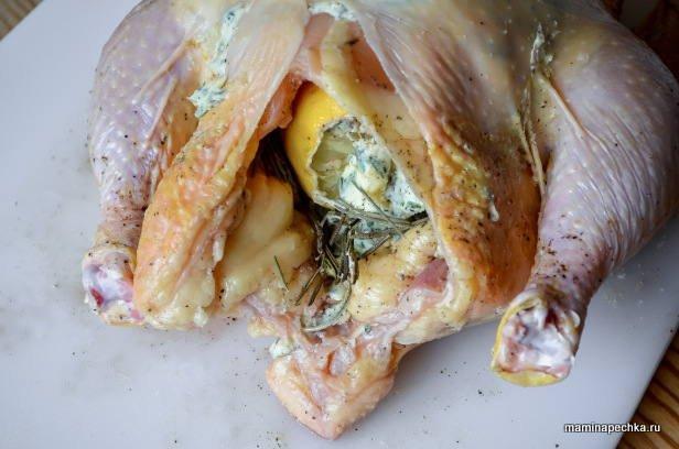 Цыплёнок с шалфеем и сливочным маслом