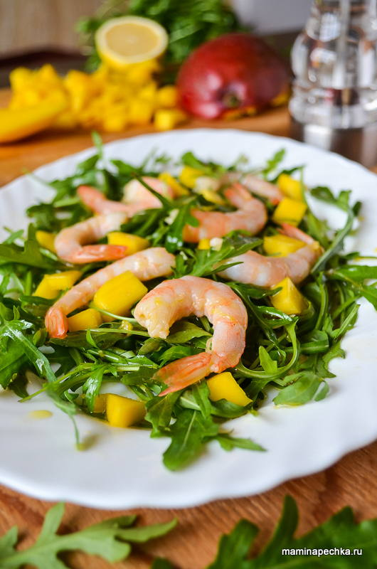 салат с креветками по домашнему рецепт