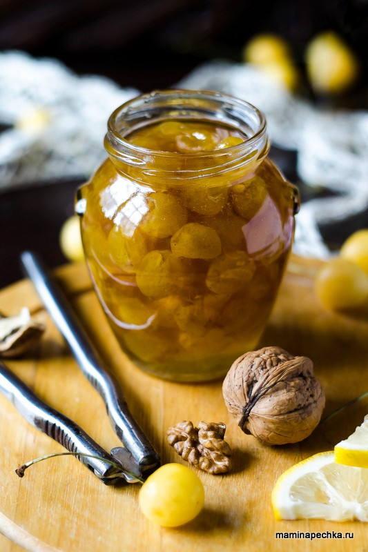 Варенье из жёлтой черешни с лимоном