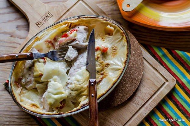 Куриное филе, запечённое с картофелем - фоторецепт