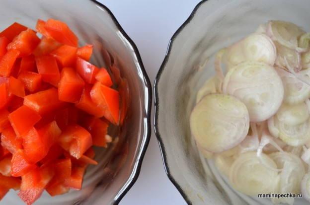 перец и лук