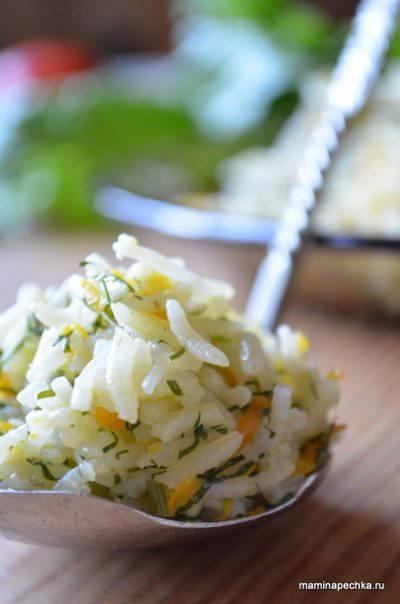 рис с морковью и укропом