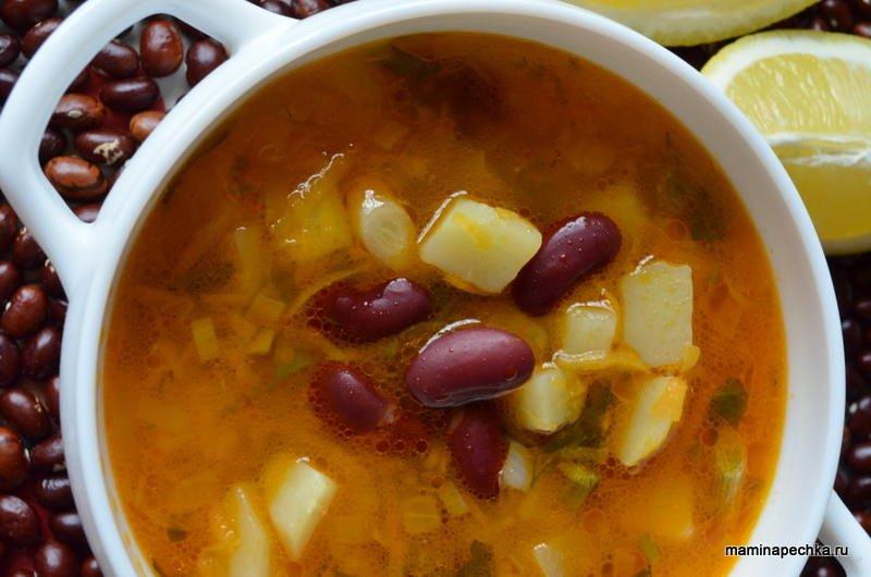 Рецепт супа из фасоли в томатном соусе с пошагово