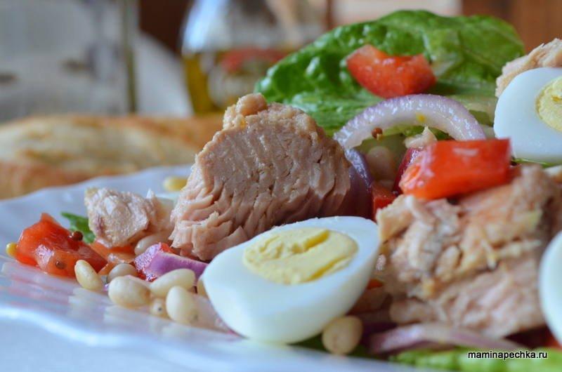 видео рецепты салата из тунца