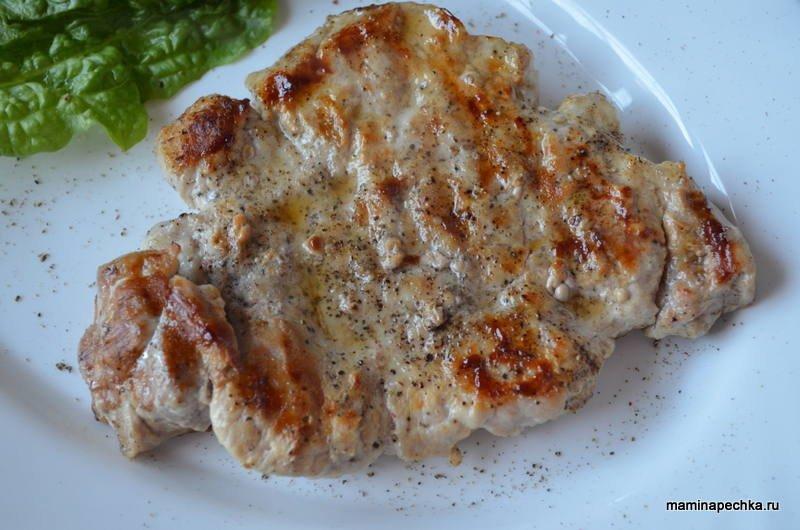 Фото и рецепт эскалоп из свинины на сковороде