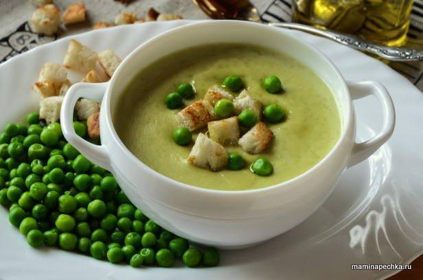 суп-крем из зелёного горошка