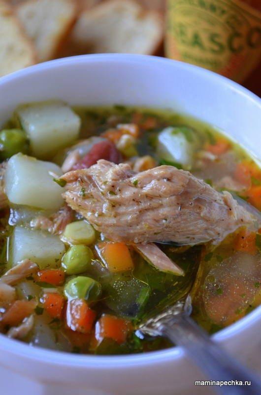 Суп с рыбной консервой