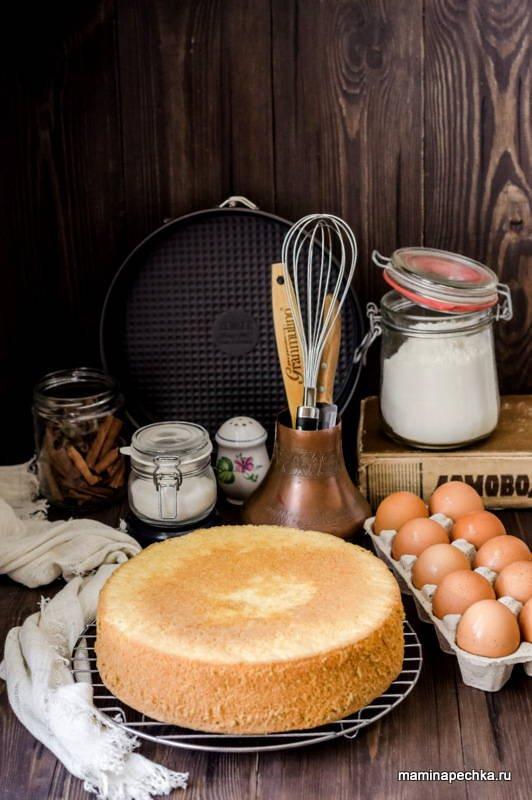 Рецепт бисквита классического в духовке для торта 28 см